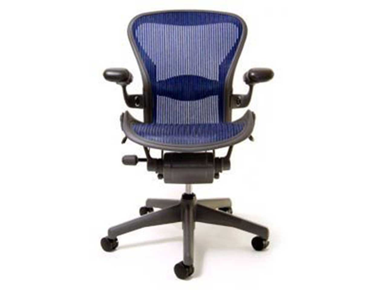 Herman Miller Aeron Chair Fully Featured Cobalt Easy